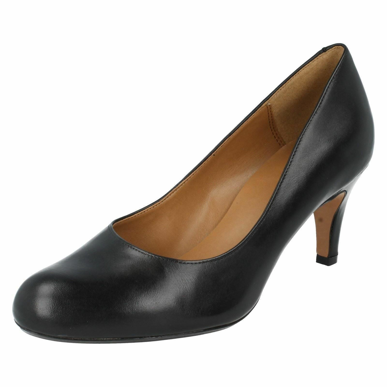 Clarks Ladies Black Black Black Leather shoes 'Arista Abe' 81d27d
