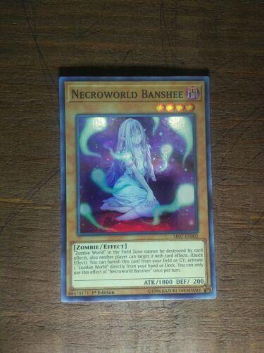 Yugioh Necroworld Banshee SR07-EN002 Super Rare 1st Edition