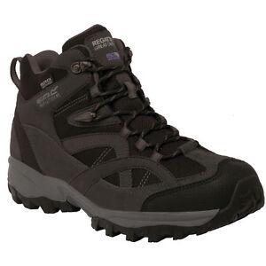 REGATTA-MENS-ALDERSON-MID-WALKING-WATERPROOF-BOOT-BRIAR-GRANITE-BLACK-RMF481