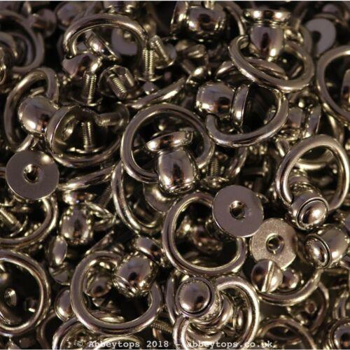Swivel Stud with Ring Leather Craft Screwback Rivet Collar