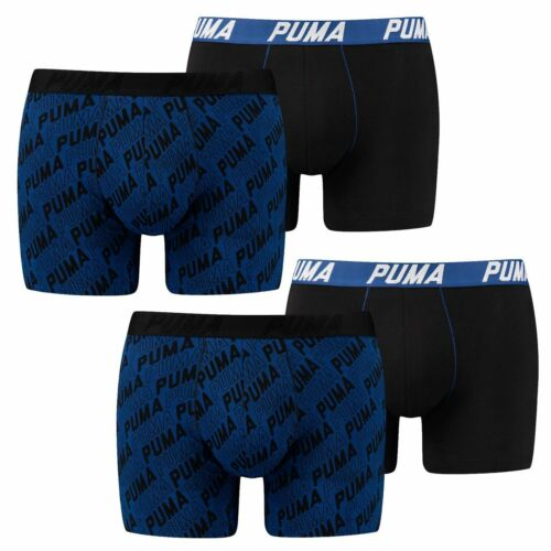 PUMA Herren Boxershorts Pants 4 Stück Shorts Unterhosen Puma-Print Boxers