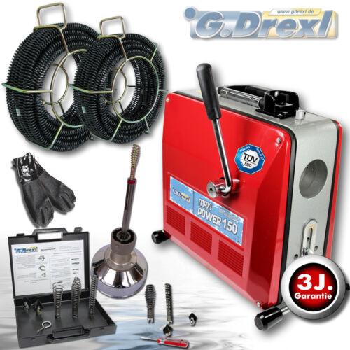 G-Drexl Rohrreinigungsmaschinen Profi Maxi Power 150 Set_3