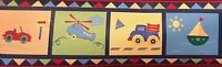 Kidsline Zooming Along Truck Cars Plane Nursery Prepasted Wall Border Roll