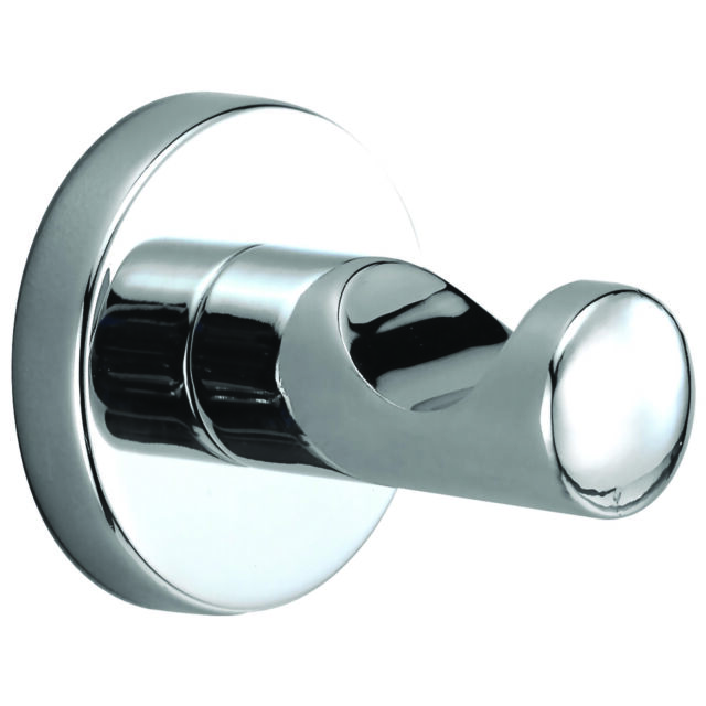 Bradley TRESOR SINGLE ROBE HOOK 50x40x22mm Surface Mounted, Bright Chrome Plated