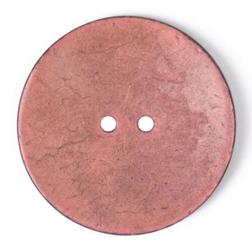 40mm 64L Pink Round Coconut Shell Button