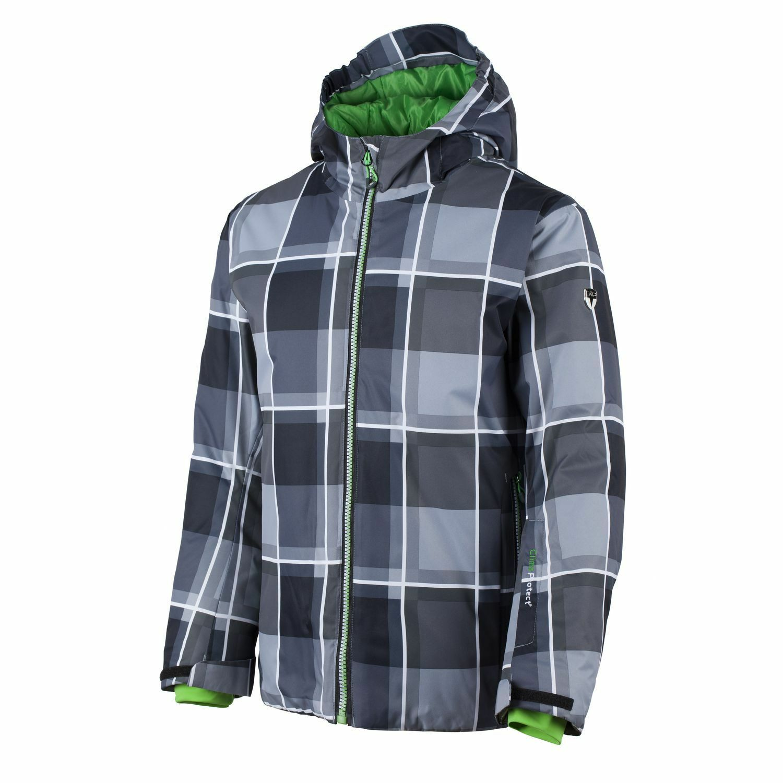 CMP Snowboardjacke Winterjacke grau Muster ClimaProtect® atmungsaktiv