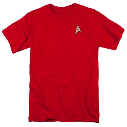 Star Trek Original Series ENGINEERING UNIFORM Costume T-Shirt All Sizes