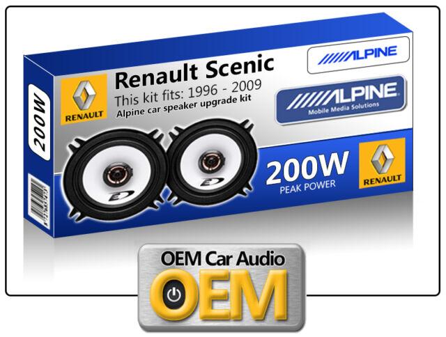 "Renault Scenic Rear Door speakers Alpine 13cm 5.25"" car speaker kit 200W Max"