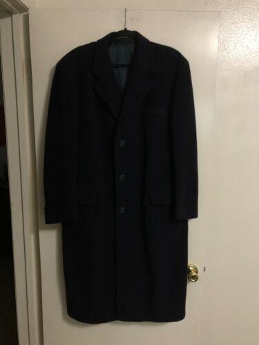 Ralph Lauren Navy Blue Overcoat Top Coat Trench Pe