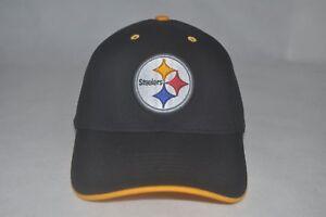 New NFL Pittsburgh Steelers Team Men s Cap Baseball Black Yellow Hat ... 1be3e9e2027