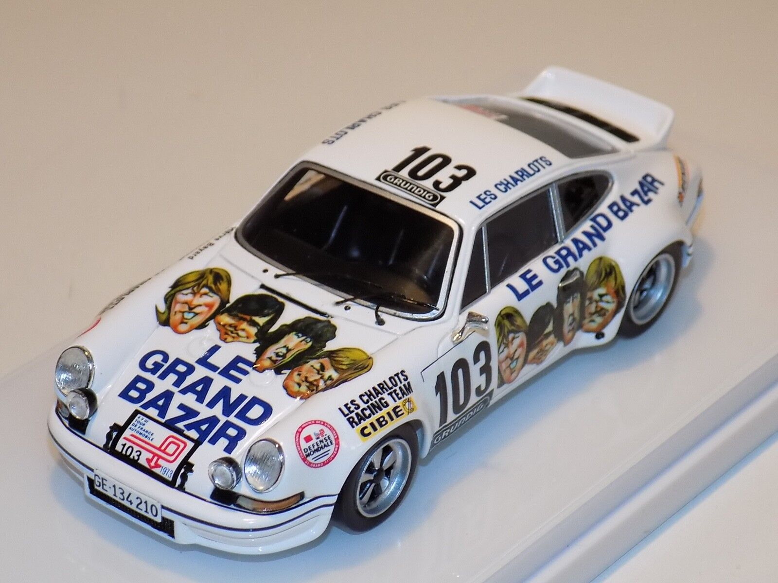 1 43 True Scale Models TSM Porsche 911 RS 2.7 Tour De France 1973 TSM1243558
