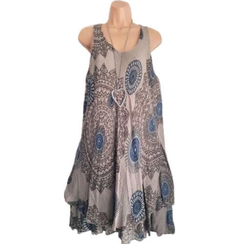 Plus Size Women/'s Sleeveless Loose Dress Summer Beach Casual Long Tops Sundress