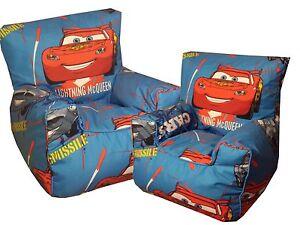 Image Is Loading Disney Cars Beanbag Chair Character Bean Bag Chiar