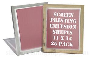 """Yudu Style Emulsion Sheets - 25  Pack - 11""""x14"""""""