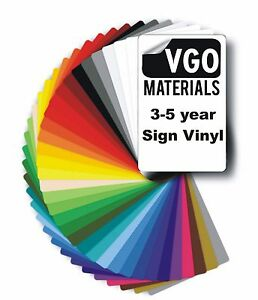 5M Roll Self Adhesive Gloss Sign Making Vinyl Sticky Back Plastic 610mm samples
