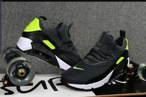 Details about Nike Air Max 90 EZ Dark Grey Volt White Men Running Shoes Sneakers AO1745 003