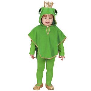 Frosch Kostum Klein Kinder Karneval Fasching Fest Tier Umhang Poncho