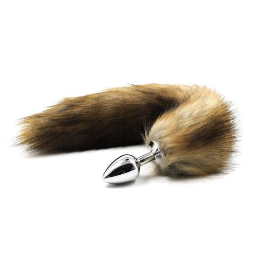Lustige Unisex Edelstahl Metall Stecker Fox Faux Schwanz Valentinstag Geschenk