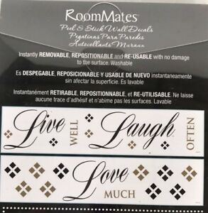 Details about ROOMMATES RMK1396SCS Live, Love, Laugh Quote Wall Decals