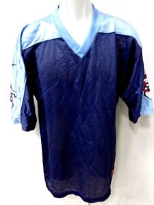 los angeles b0845 4ae0e Details about Tennessee Titans Football Jersey Replica Blank Blue  *Imperfect*