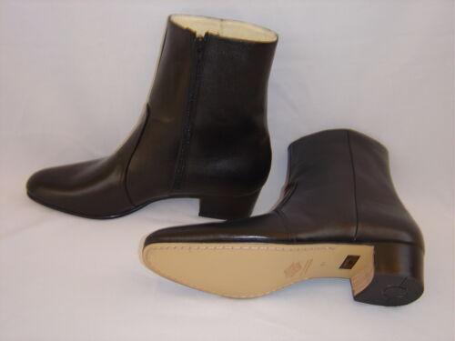 Elvis BLACK 100/% Leather Zip-Up Boots 10 NEW Size USA Jumpsuit Costume Era