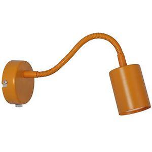 Designer-Lampada-parete-Esplora-Nordlux-arancione-Braccio-flessibile-GU10