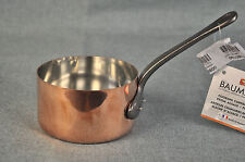 BAUMALU Smooth 2 mm Copper Sauce Pan 1qt One Handle Alsace France New