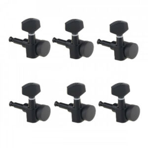 guitar locking tuners tuning pegs 6 in line right hand black strat headstock 722851402115 ebay. Black Bedroom Furniture Sets. Home Design Ideas