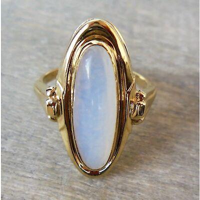 Vintage Ring mit Kunststein aus 333 Gold (gestempelt)