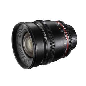 walimex pro 16/2,2 VDSLR Superweitwinkel Objektiv für Canon EF-S schwarz