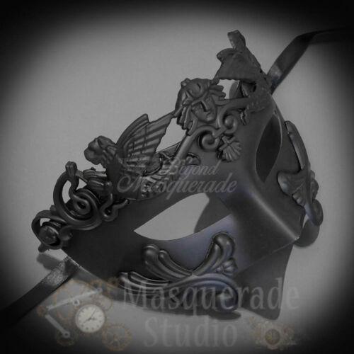 Mens Egyptian Greek Roman Warrior Hercules Venetian Masquerade Ball Mask Black
