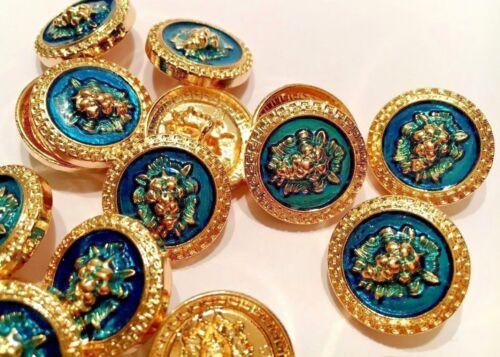 botones cabeza de león. león noble Lionhead Cabeza de león .10 St. buttons Lion bronce