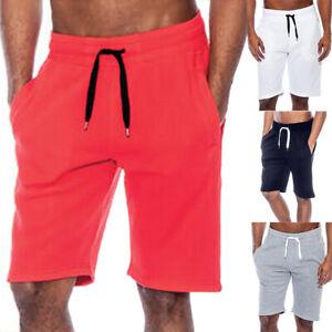 Men-Summer-Casual-Workout-Fit-Tech-Fleece-Shorts-Baggy-Sport-Jogger-Beach-Pants