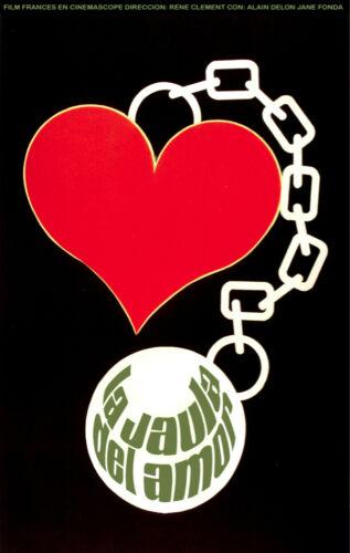 Decor Art 1583 Cuban POSTER.Stylish Graphics.La Jaula de amor.Red Heart