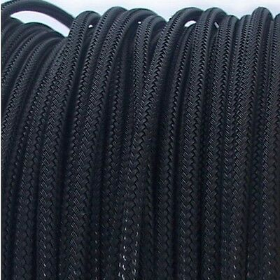 3mm High Density Expandable Braided PET Premium Cable Sleeve 3 Ft USA Black