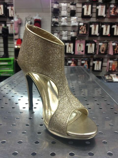 Gold Glitter Cut Outs Peep Toe Platform Heels #Bombshell-35