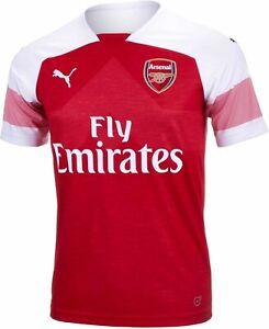Puma Kids Boys Arsenal Away Shirt 2018 2019 Junior Domestic Short Sleeve V Neck