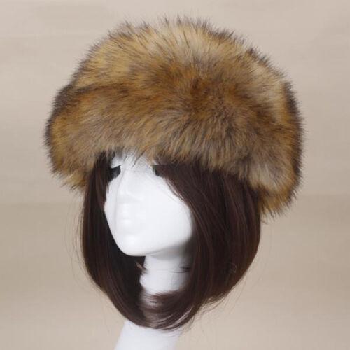 Frauen Tick Fluffy Fox Pelzmütze Stirnband Winter Dicke Warme Ohren Bomber Hut