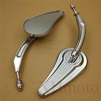 Custom Tailfin Mirrors Fit Harley Sportster 883 Xlh Springer Softail V Rod Chrom