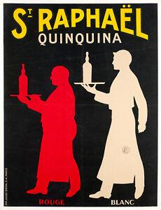 Affiche-Originale-Saint-Raphael-Quinquina-Aperitif-Vin-Serveurs-1930