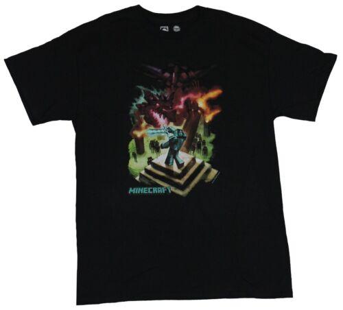 Ender Dragon Steve/'s Hill Top Battle Minecraft Mens T-Shirt