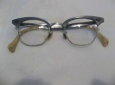 Vintage  Horn Rim Eyeglass Frames 1/10 12 GF Nose Bridge With ALUMINIUM frame