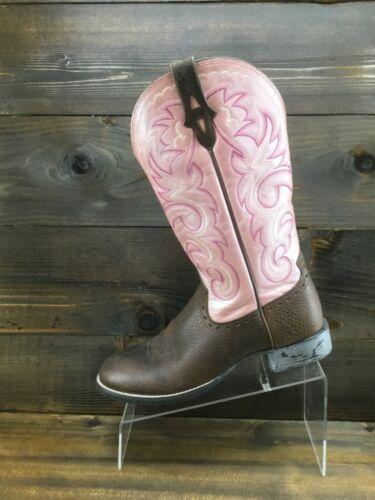 Ariat Womens Heritage Horseman Pink Brown Cowboy B