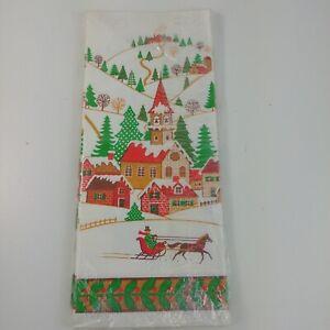 Vintage-Christmas-Tablecloth-Paper-150xTA-35-1-Snow-Village-Church-2