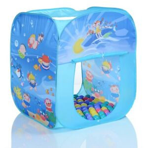 pop up spielzelt kinderhaus ocean quader 100 b llebad b lle draussen drinnen 4250579203647 ebay. Black Bedroom Furniture Sets. Home Design Ideas