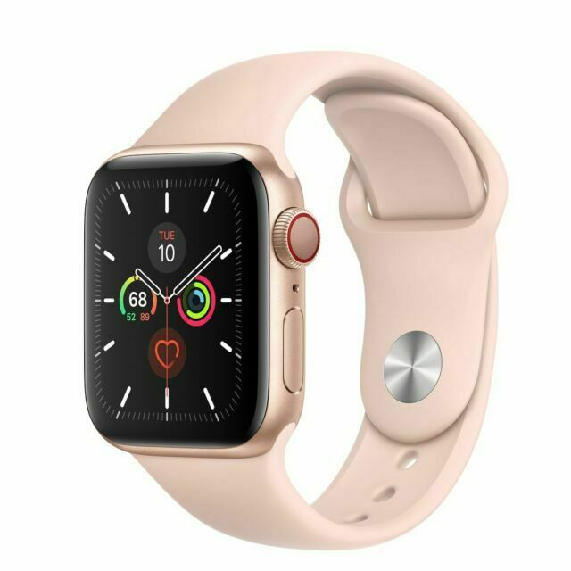 Apple Watch Series 5 Mwwp2ll A Gps Cellular 40mm Smartwatch Pink Sand For Sale Online Ebay