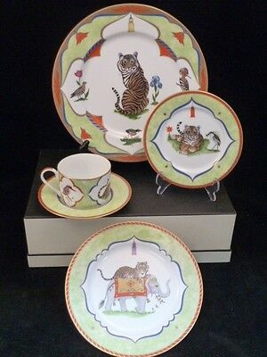 LYNN CHASE TIGER RAJ - Great find!! 5 PIECE PLACE SETTING BRAND NEW MINT & lynn chase collection on eBay!