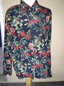 55625fb57ee257 LIZ CLAIBORNE Women s Silk Blouse Sz 6 Multi-Color Pattern Button ...