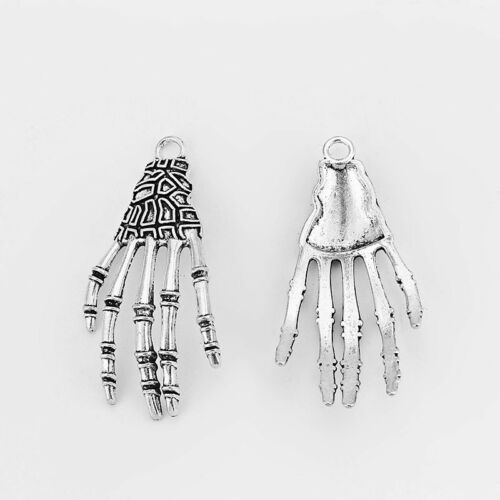 20 Pcs Gothic Skeleton Hand Charms Pendant DIY Jewelry Findings