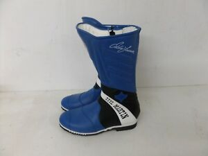 VARIOUS SIZES STYLMARTIN MOTORCYCLE MOTORBIKE RACING BOOTS BLUE//WHITE 189